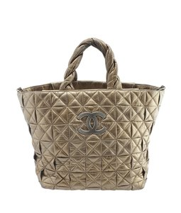 Chanel Leather Tote in Gold