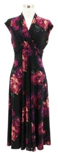 Black and Pink Maxi Dress by Jones New York