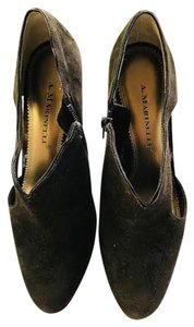A. Marinelli Suede Sexy Pumps New Brown Formal