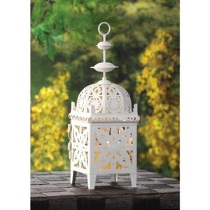 10 New Small White Moroccan Lanterns Candle Lanterns