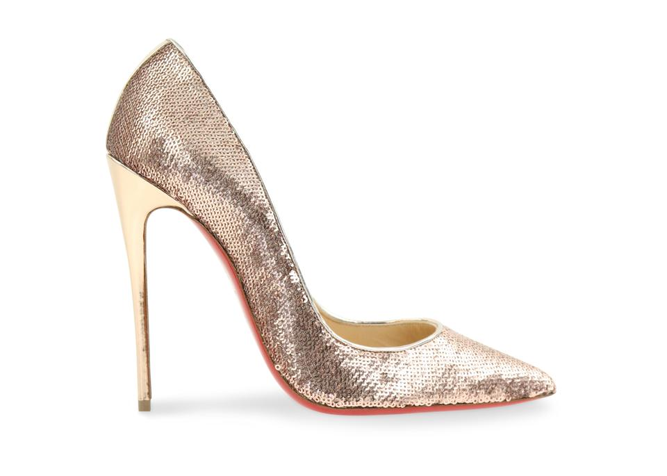1373040fd34c Christian Louboutin Gold So Kate 120 Paill Sirene Nap Lam Spec Pumps ...