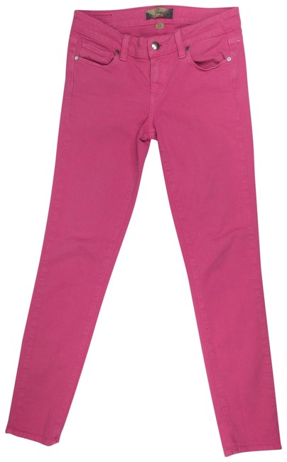 "Item - Pink Coated Women's W28"" X L28"" Peg Denim Pants Slim Co Skinny Jeans Size 25 (2, XS)"