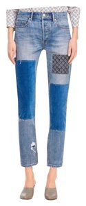 La Vie Rebecca Taylor Straight Leg Jeans-Distressed