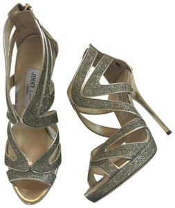Jimmy Choo bronze metallic Formal