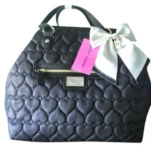 Betsey Johnson Tote Quilted Heart Shoulder Bag