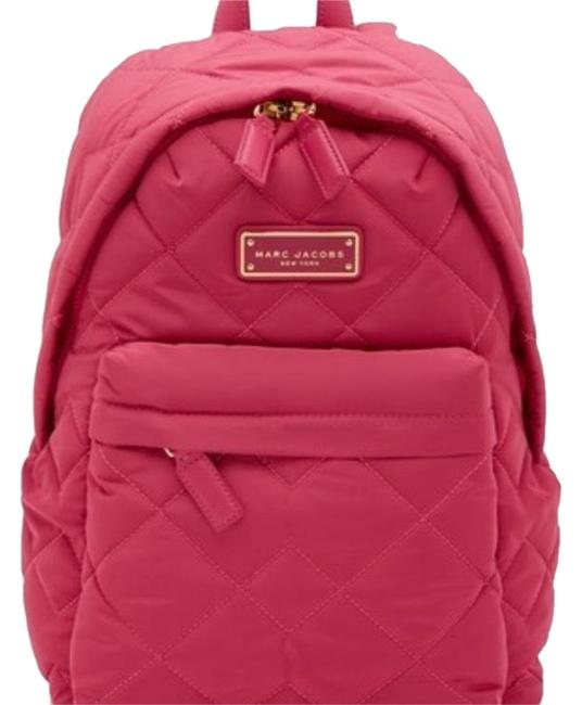 Item - Quilted Pink Nylon Backpack