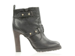 Tory Burch Military Moto Lug Sole black Boots