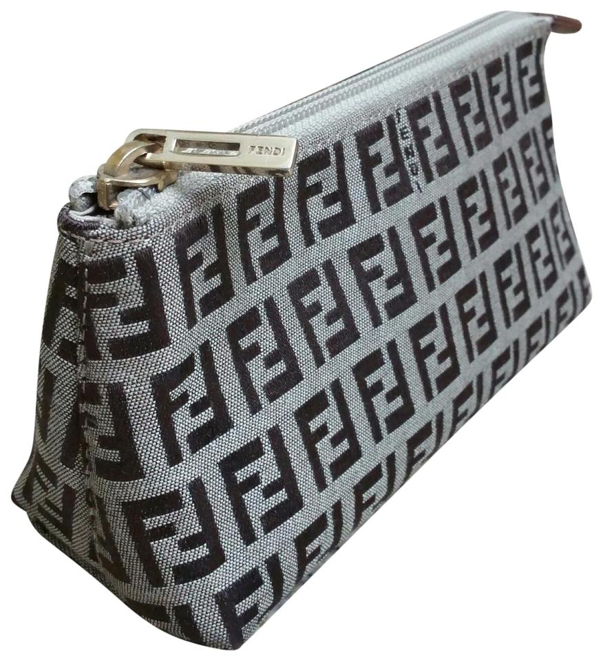 850c58d59c87 Fendi Brown   Tan Zucca Cosmetic Bag - Tradesy