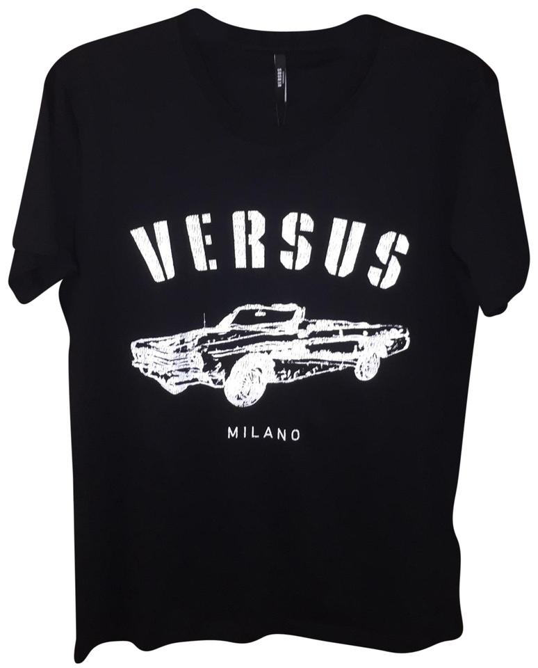 51af34c45 Versus Versace Black Donna Tee Shirt Size 12 (L) - Tradesy