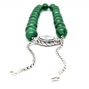 "David Yurman AMAZING!! David Yurman Green Onyx Spiritual Beads 8mm Comes with original pouch!! 5.8""-9.8"" adjustable"