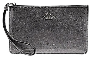 Coach Patent Leather Limited Edition Wristlet in Silver Glitter