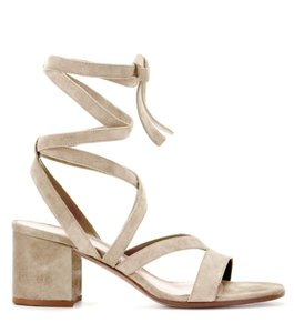 Gianvito Rossi Suede Low Neutral Sandals