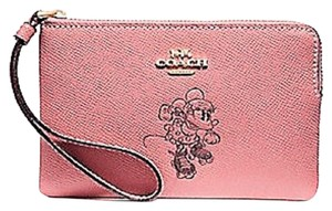 Coach Limited Edition Leather Disney Coachdisney Wristlet in Pink