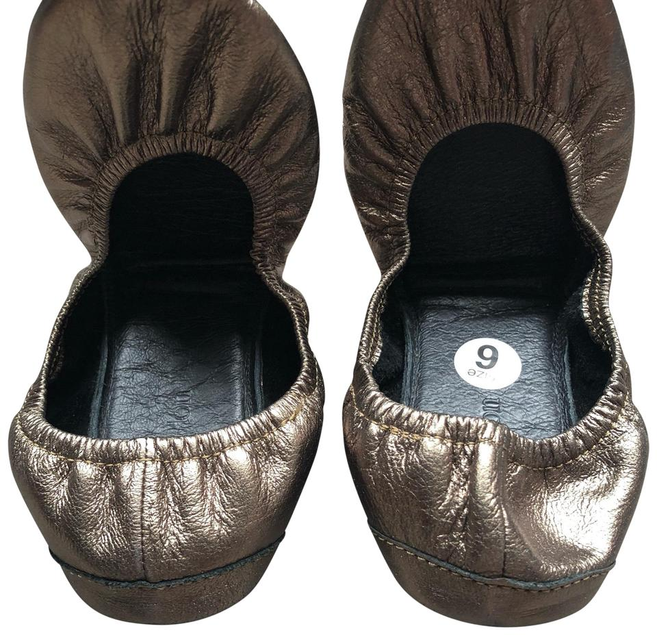 0dd9c773d7c Bronze Foldable Ballet In Leather Flats Size US 6 Regular (M