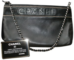 74514c272d2aa5 Chanel Mini Chain Leather Gifts For Her Wristlet in Black