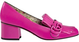 Gucci Marmont Heels Pink patent leather Pumps