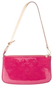 Louis Vuitton Luxury Leather Patent Leather Designer Wristlet in Indian Rose