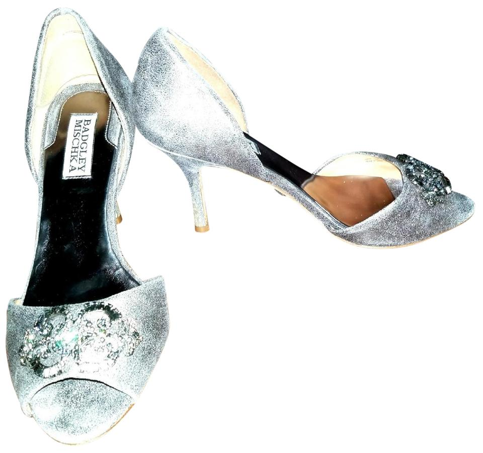 f9cf5c75e25 Badgley Mischka Pewter Luxe Couture Pumps In Salsa Formal Shoes. Size  US  8.5 Regular (M ...