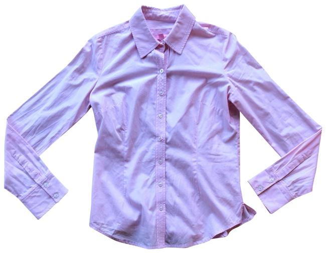 Item - Light Pink Chambray Button-down Top Size 4 (S)