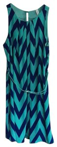 Pink Owl short dress teal/navy on Tradesy