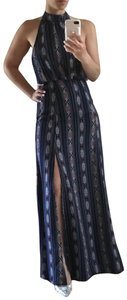 blue red white brown Maxi Dress by Lulu*s