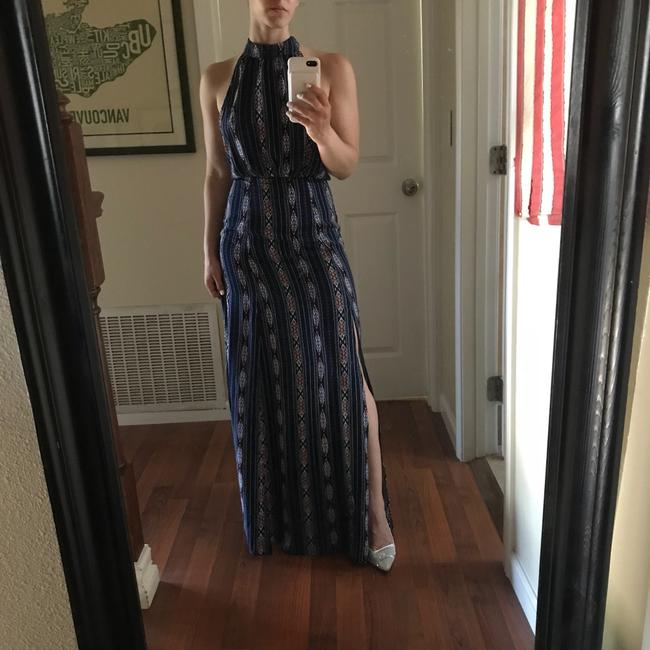blue red white brown Maxi Dress by Lulu*s Image 1