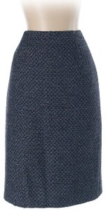 Escada Wool Silk Pencil Skirt Blue