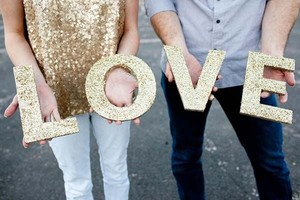 Love Glitter Photo Prop Wedding Decor Signage
