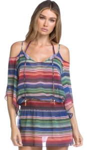 Becca by Rebecca Virtue BECCA by Rebecca Virtue West Village Cold Shoulder Striped Boho Swim Cover Up