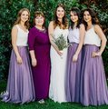 Wisteria Tulle Skyler Skirt Feminine Bridesmaid/Mob Dress Size 4 (S)