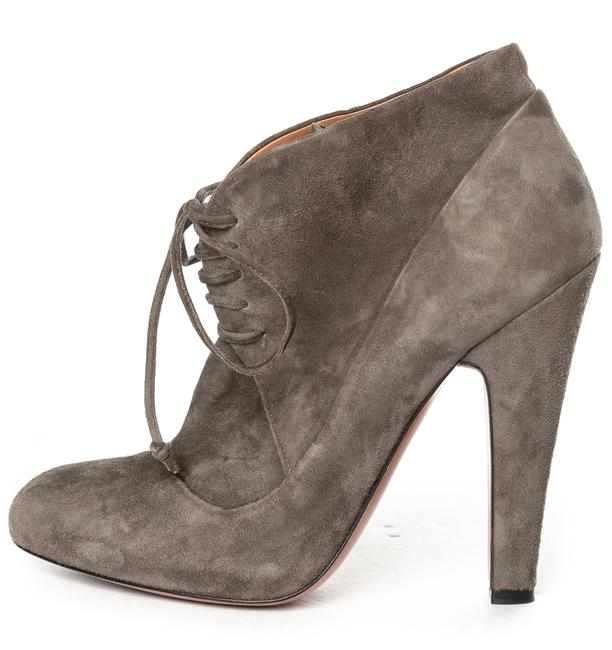 Item - Grey Suede Lace-up Ankle Boots/Booties Size EU 38 (Approx. US 8) Regular (M, B)