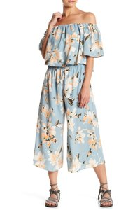 Peach Love California Wide Leg Off The Shoulder Floral Dress
