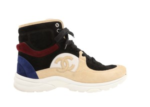 Chanel Suede Calfskin Leather Rubber Multi Athletic