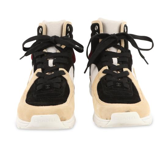 Chanel Suede Calfskin Leather Rubber Multi Athletic Image 2
