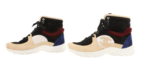 Chanel Suede Calfskin Leather Rubber Multi Athletic Image 4