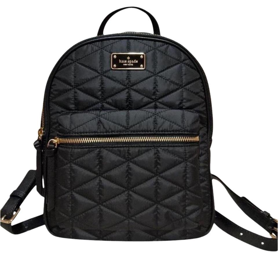 a2f34bc3cfcd Kate Spade Wilson Road Quilted Small Bradley Black Nylon Backpack ...