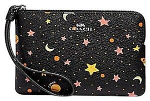 Coach Limited Edition Canvas Stars Wristlet in Black Multi