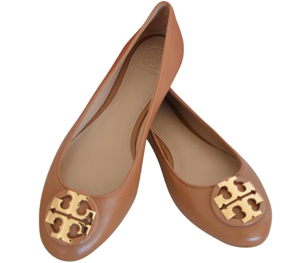 8309d1758df Tory Burch Brown Claire Ballet Tumbled Leather Flats Size US 9.5 ...