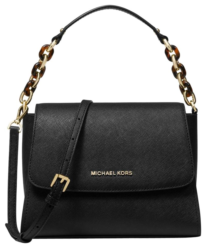 c014ff05bd7c Michael Kors Sofia Small Saffiano Portia Black Leather Satchel - Tradesy