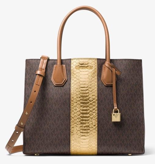 Michael Kors Trolley Carry-on Suitcase Jet Set Trolley Luggage Brown Travel Bag Image 5