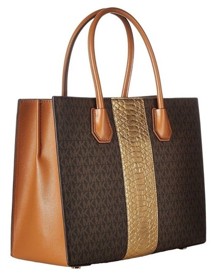 Michael Kors Trolley Carry-on Suitcase Jet Set Trolley Luggage Brown Travel Bag Image 6