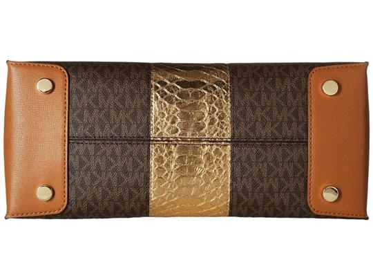 Michael Kors Trolley Carry-on Suitcase Jet Set Trolley Luggage Brown Travel Bag Image 8