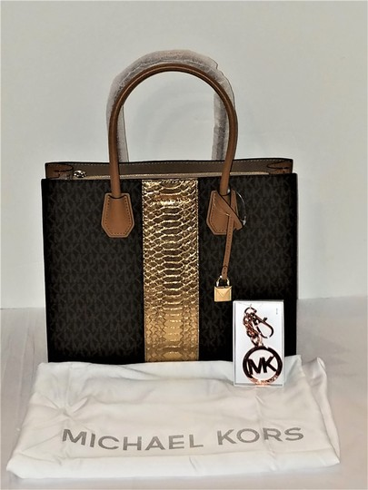 Michael Kors Trolley Carry-on Suitcase Jet Set Trolley Luggage Brown Travel Bag Image 9