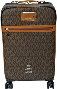 Michael Kors Trolley Carry-on Suitcase Jet Set Trolley Luggage Brown Travel Bag