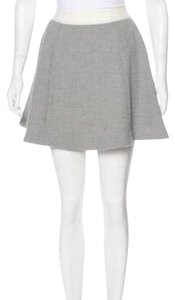 Elizabeth and James Skirt White trim and light gray