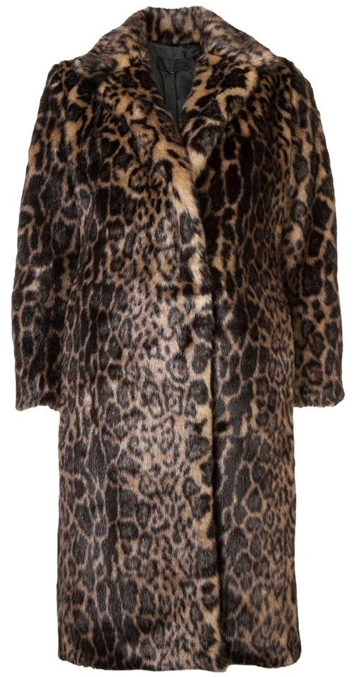 8159ead82bb4 Nili Lotan Brown Leopard Faux Marvin Coat Size 2 (XS) - Tradesy