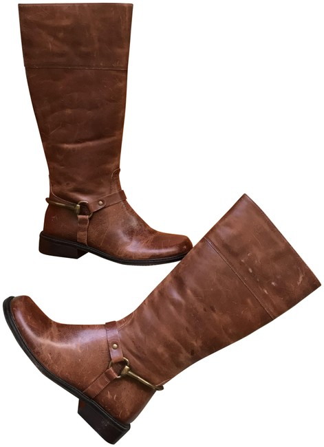 Item - Cognac Brown Equestrian Gold Leather Riding Boots/Booties Size US 6 Regular (M, B)