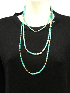 Turquoise and Gold Vermeil Long Necklace