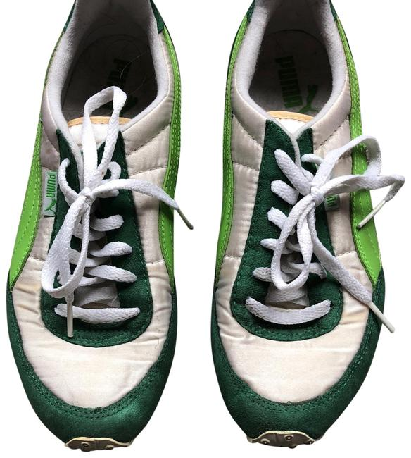 Puma Green and Silver Suede Sneakers Size US 5.5 Regular (M, B) Puma Green and Silver Suede Sneakers Size US 5.5 Regular (M, B) Image 1