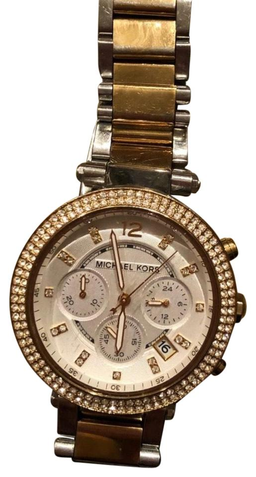 4d353c99bedd Michael Kors Silver and Gold Mk5626 Watch - Tradesy
